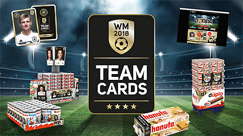 Ferrero TeamCards Aktion zur WM 2018